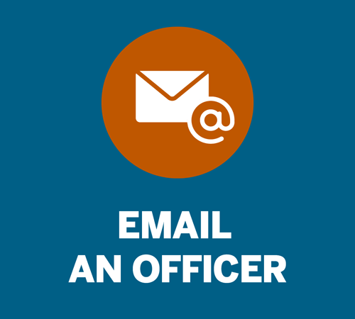 email and officer button