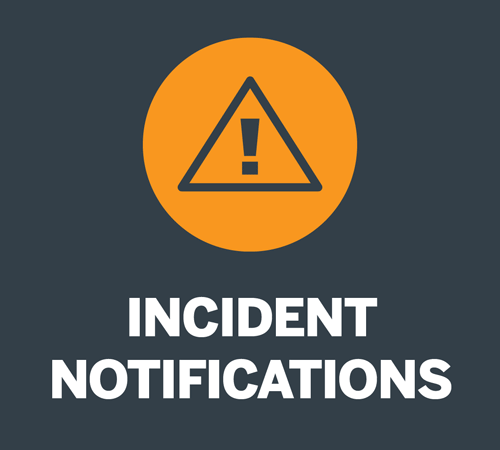 incident notifications button