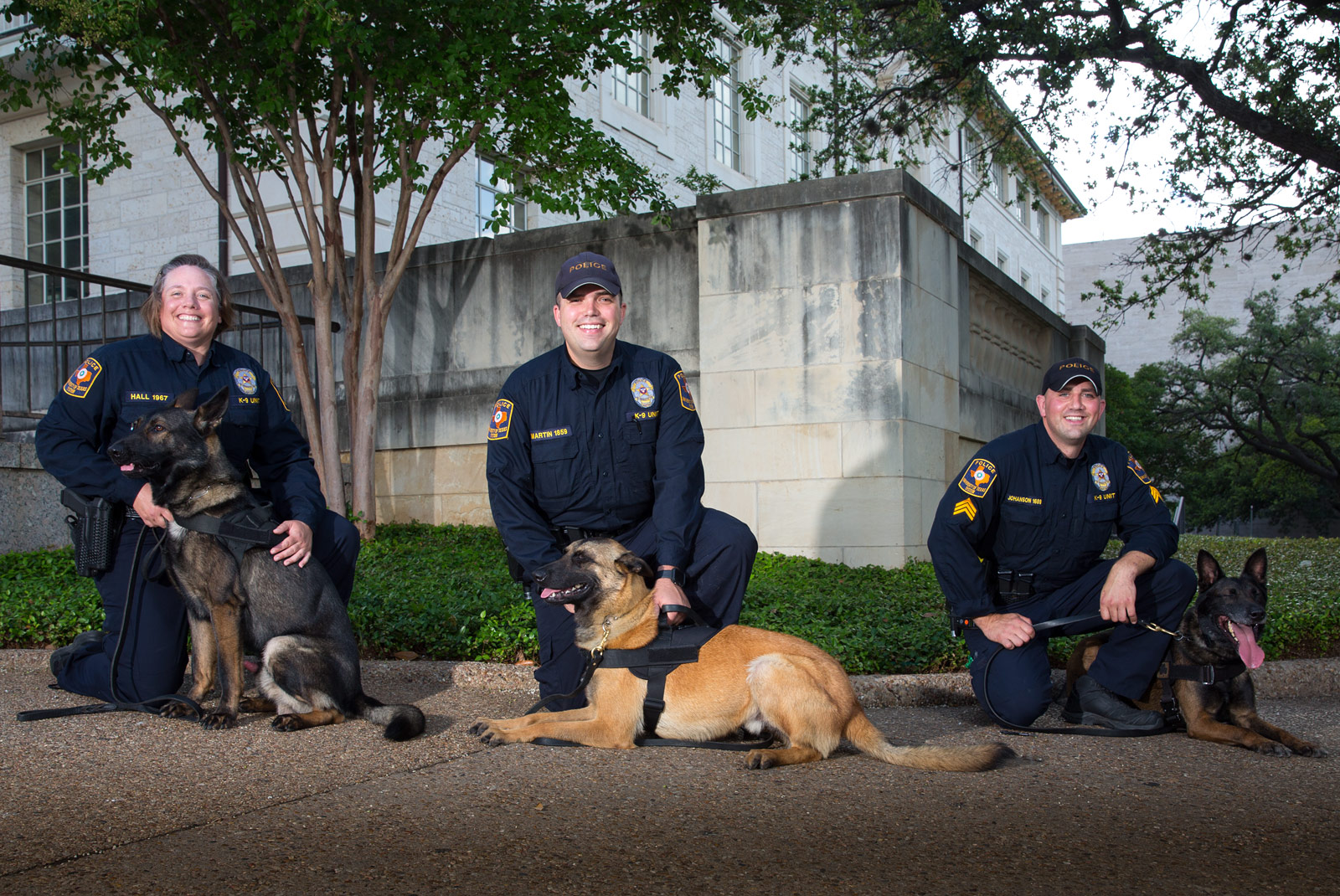 K9 Team - 3 officers and their faithful german shepards