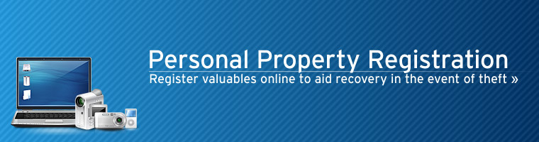 register personal property online in case of theft